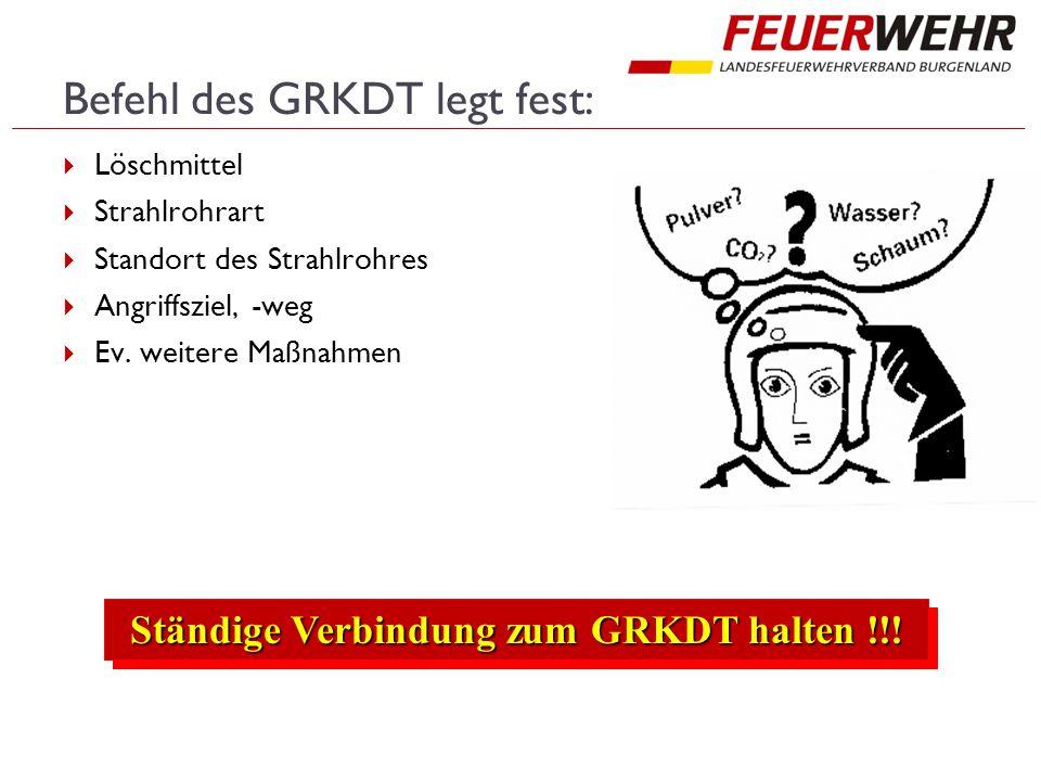 Befehl des GRKDT legt fest: