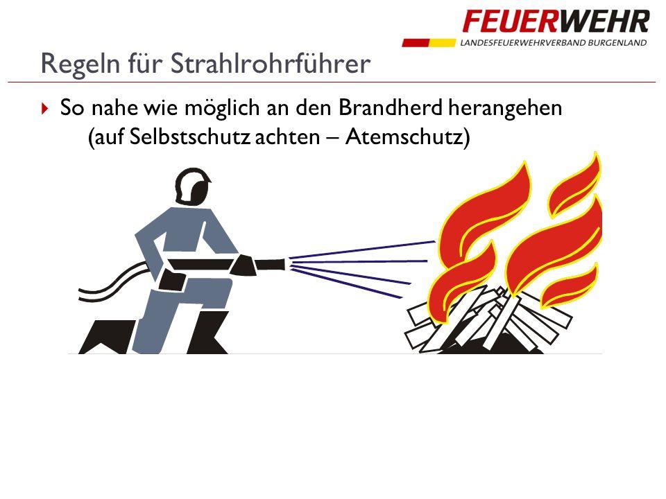 Regeln für Strahlrohrführer