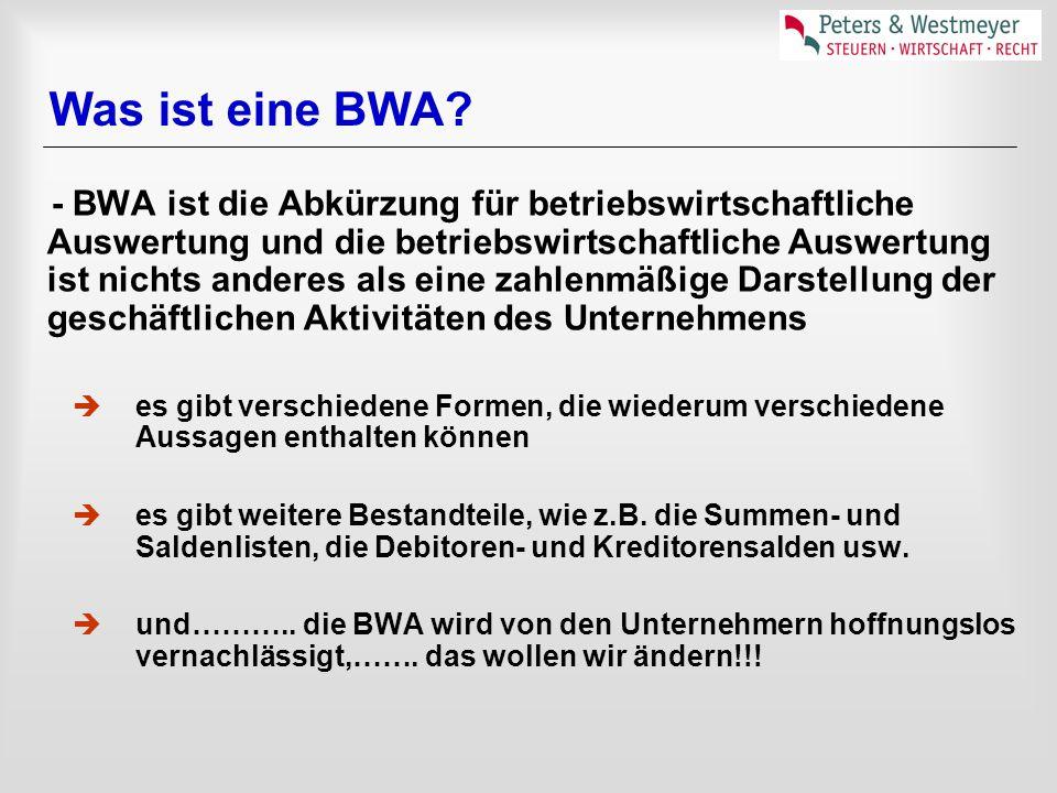 Was ist eine BWA