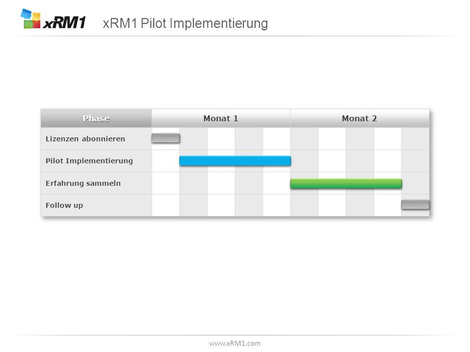 Ziele der Pilot Implementierung