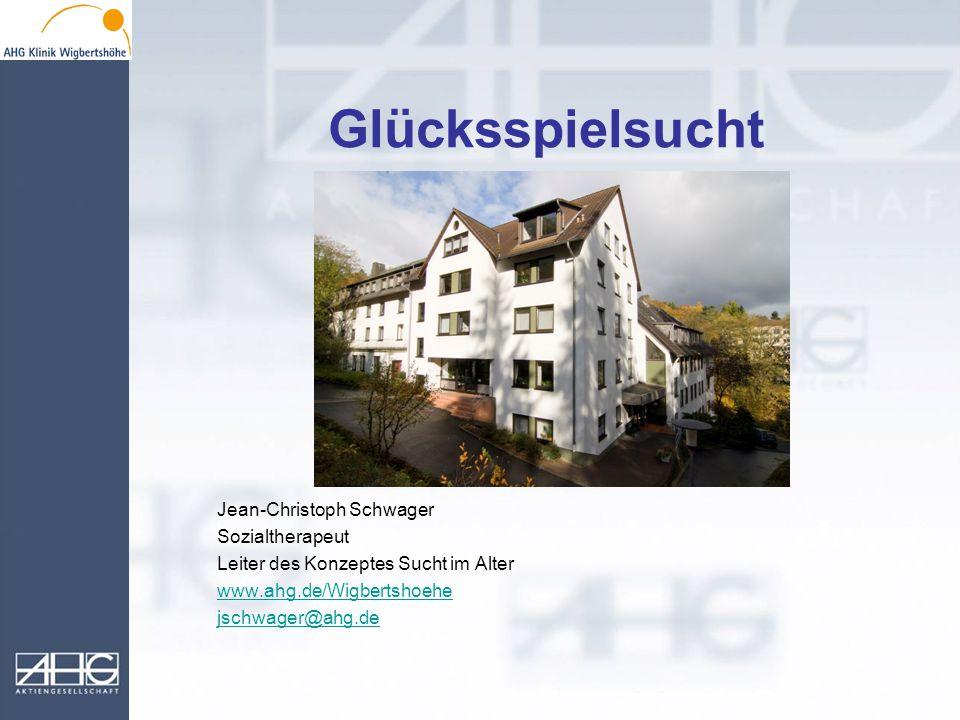 Glücksspielsucht Jean-Christoph Schwager Sozialtherapeut