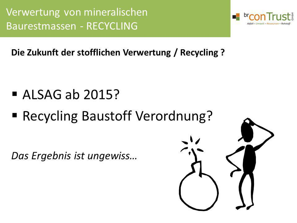 Recycling Baustoff Verordnung