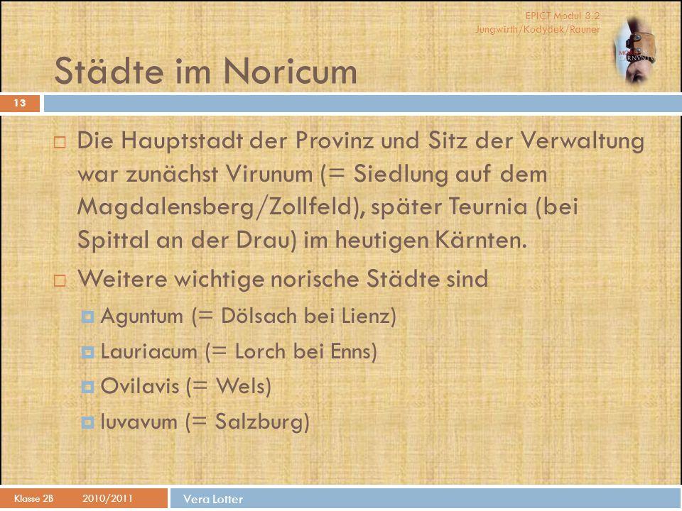 Städte im Noricum