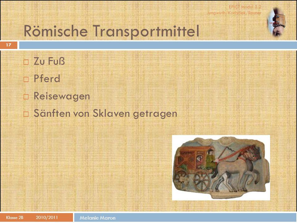 Römische Transportmittel