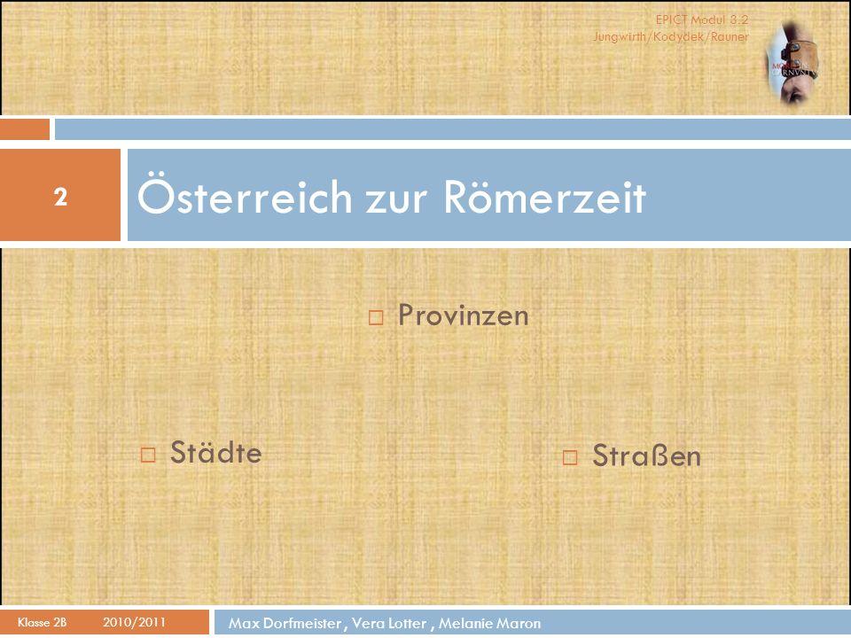 Österreich zur Römerzeit