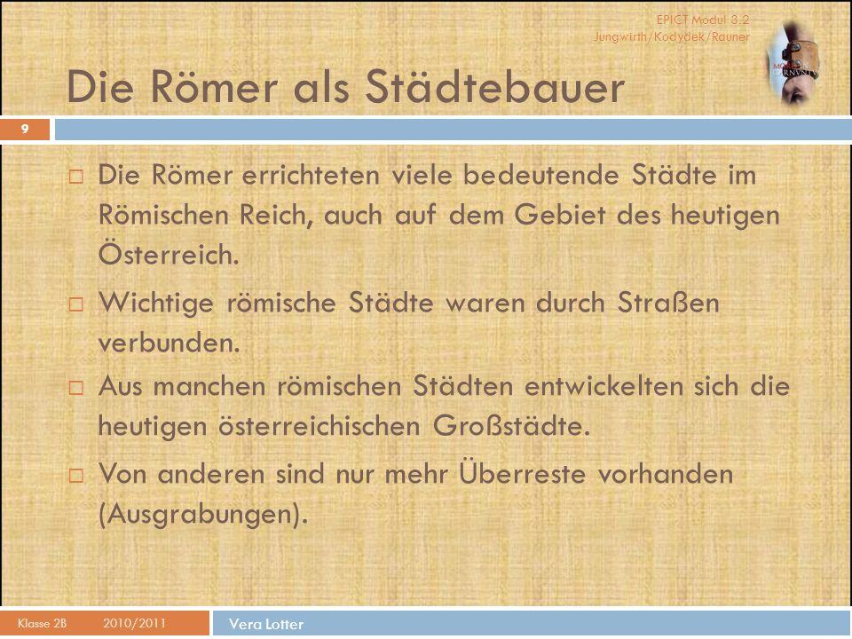 Die Römer als Städtebauer