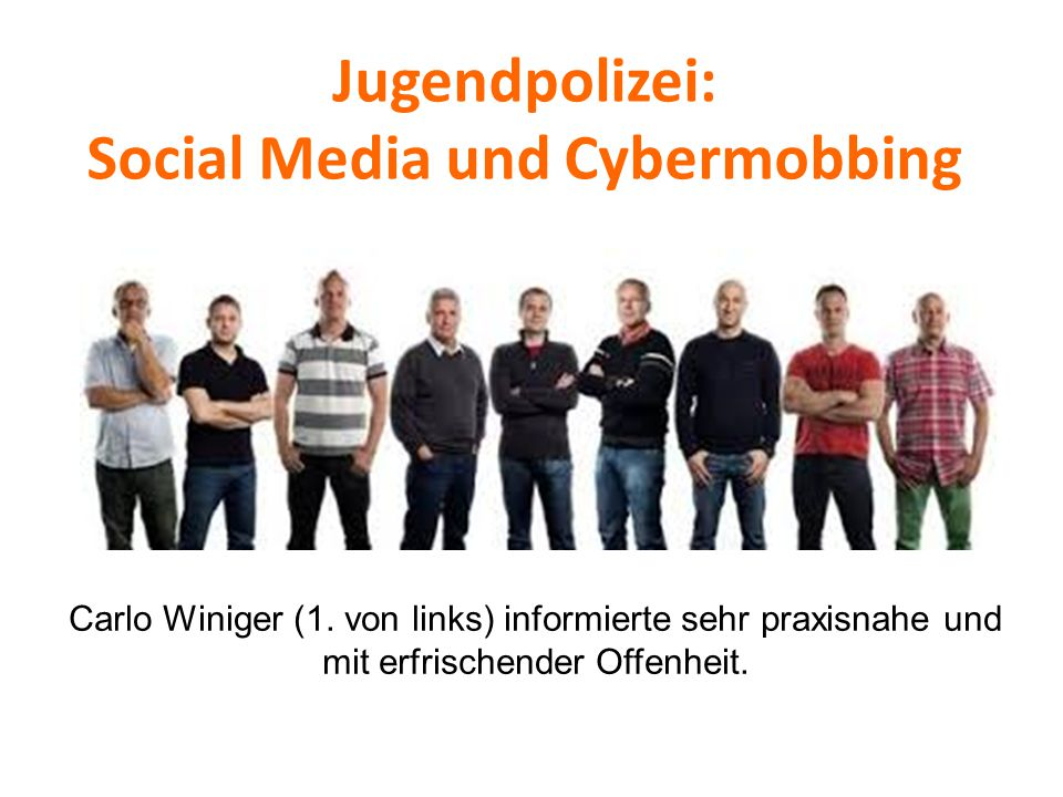 Jugendpolizei: Social Media und Cybermobbing