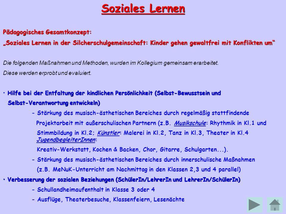 Soziales Lernen Pädagogisches Gesamtkonzept:
