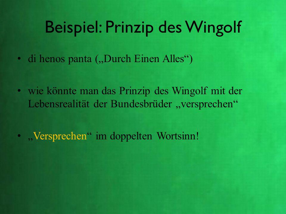 Beispiel: Prinzip des Wingolf