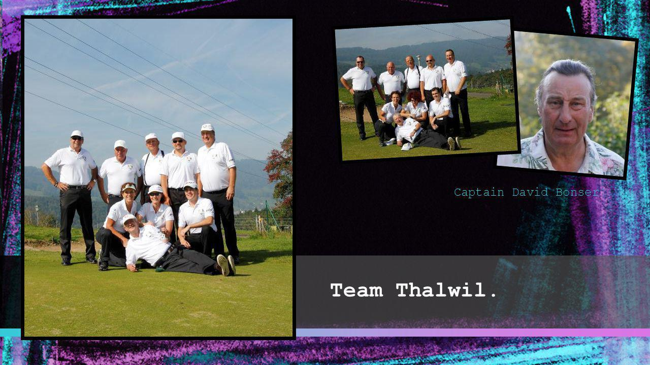Captain David Bonser Team Thalwil.