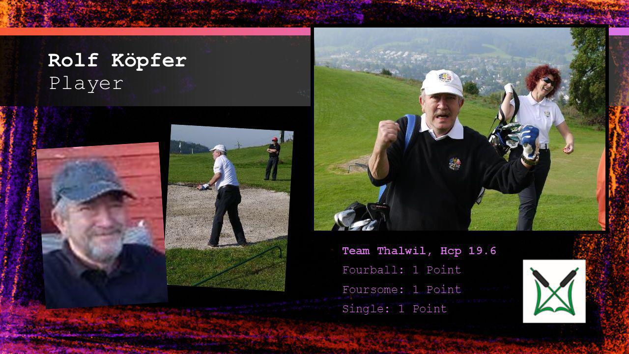 Rolf Köpfer Player Team Thalwil, Hcp 19.6 Fourball: 1 Point