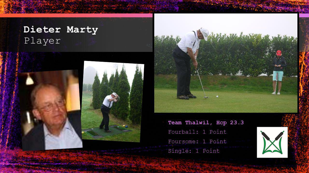 Dieter Marty Player Team Thalwil, Hcp 23.3 Fourball: 1 Point
