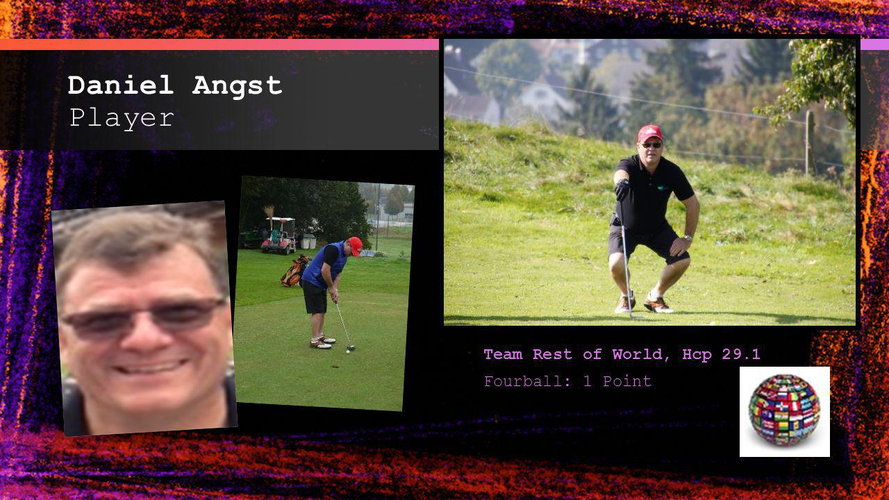 Daniel Angst Player Team Rest of World, Hcp 29.1 Fourball: 1 Point