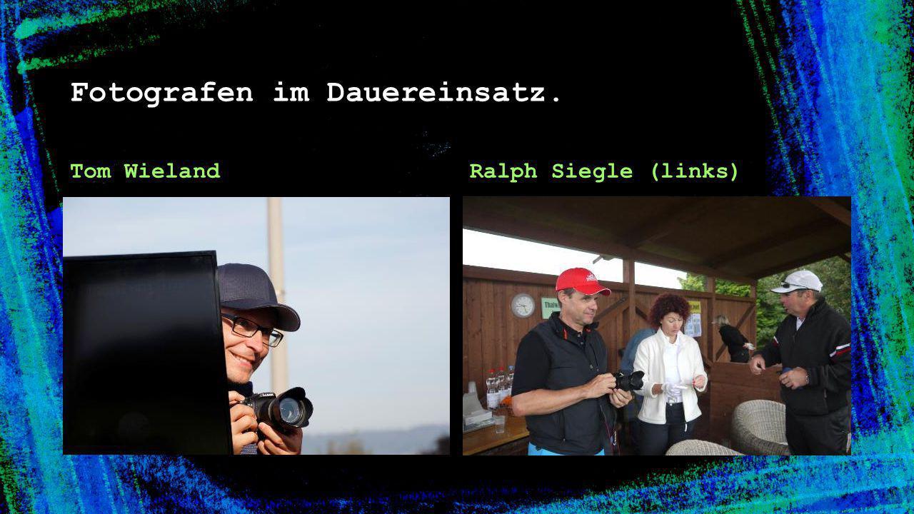 Fotografen im Dauereinsatz.