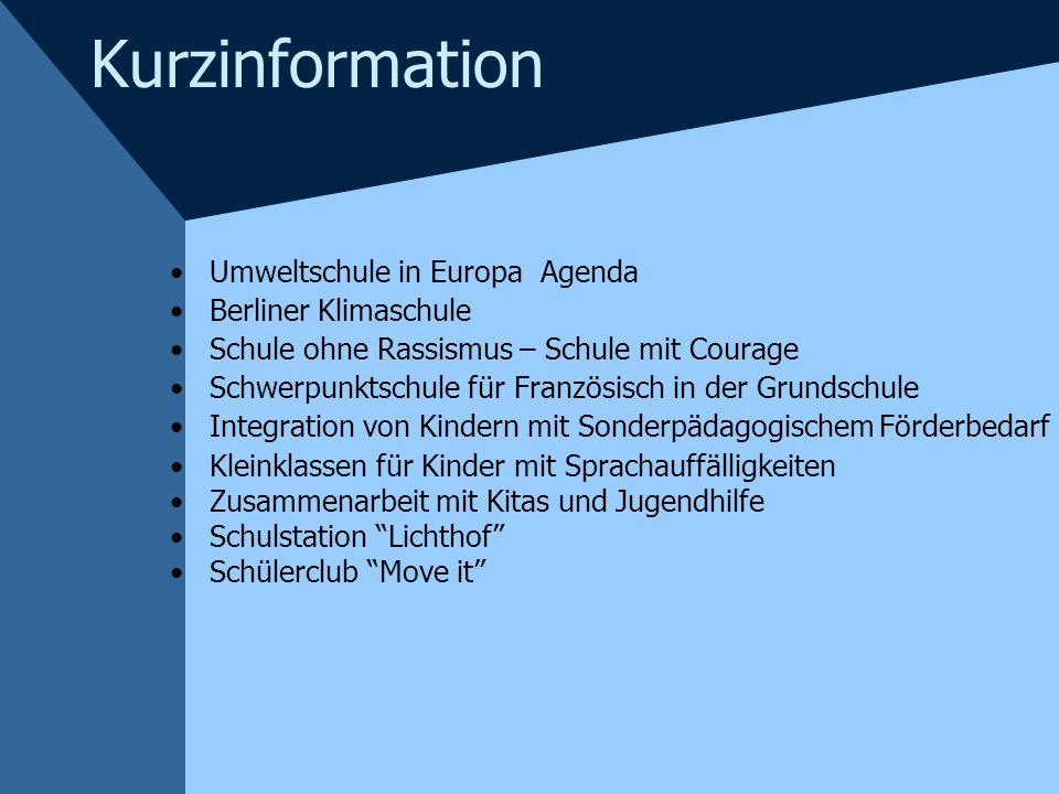Kurzinformation Umweltschule in Europa Agenda Berliner Klimaschule