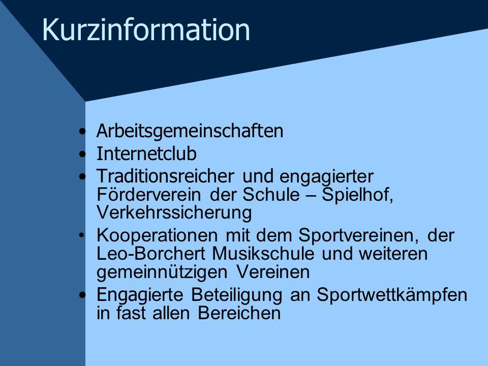 Kurzinformation Arbeitsgemeinschaften Internetclub