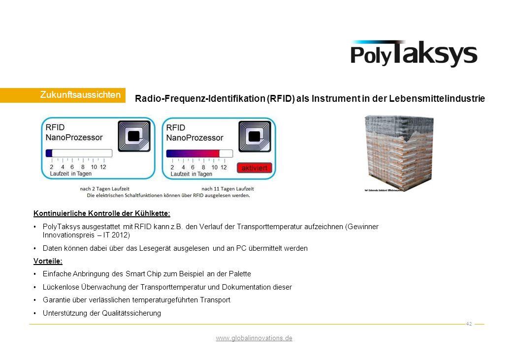 Zukunftsaussichten Radio-Frequenz-Identifikation (RFID) als Instrument in der Lebensmittelindustrie.