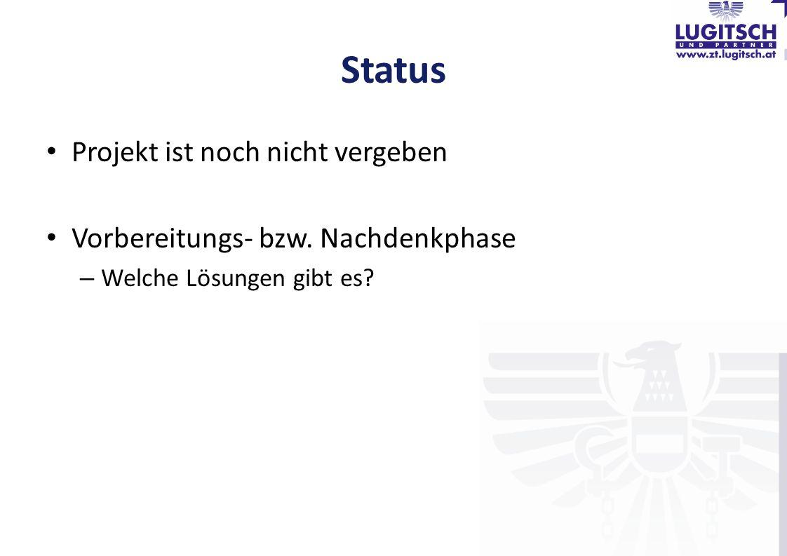 Status Projekt ist noch nicht vergeben