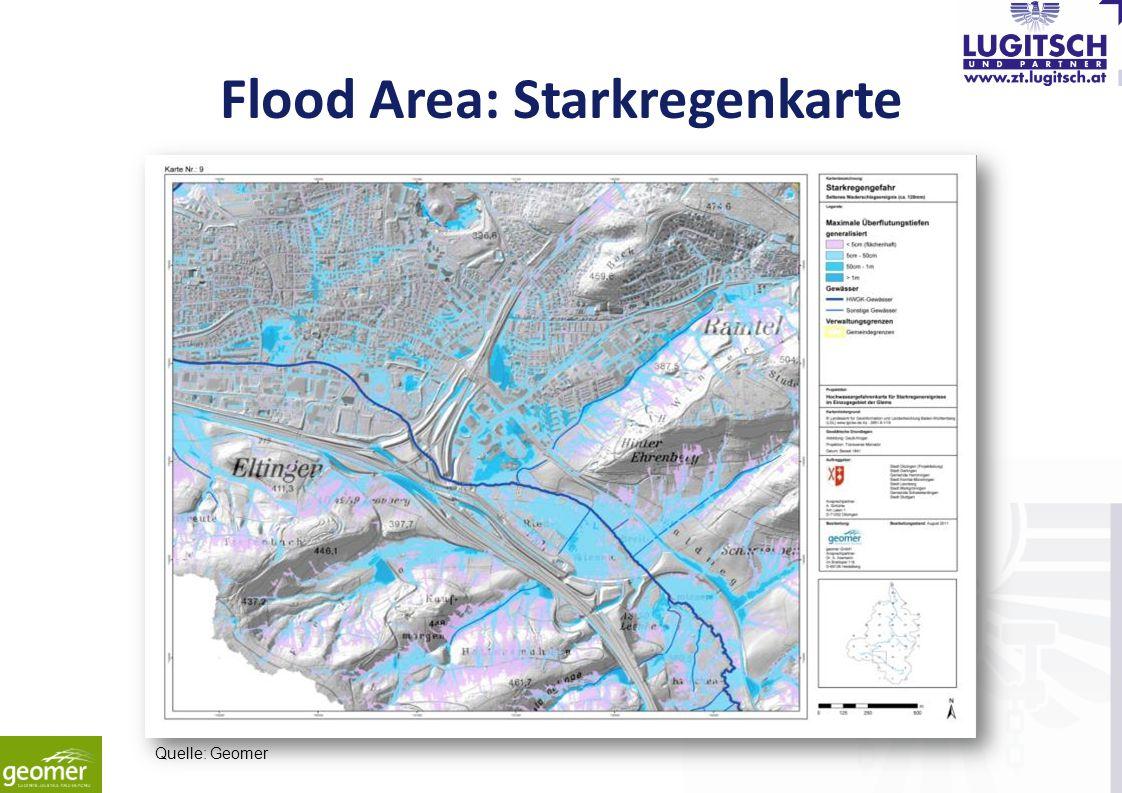 Flood Area: Starkregenkarte