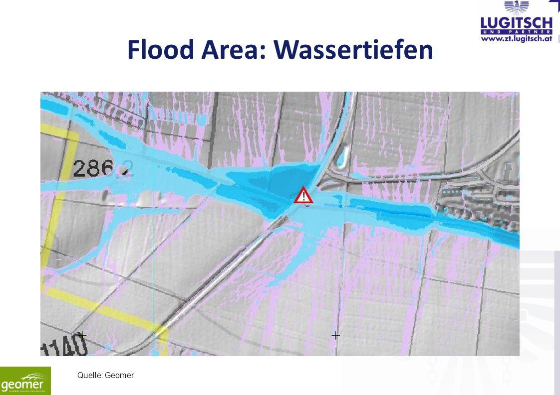 Flood Area: Wassertiefen