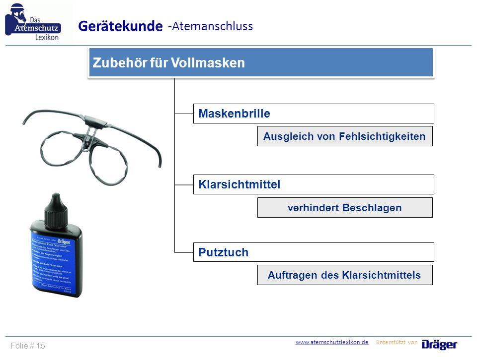 Gerätekunde -Atemanschluss Zubehör für Vollmasken Maskenbrille