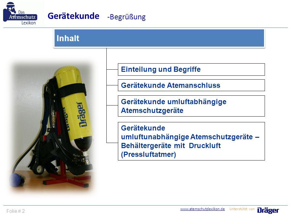 Gerätekunde -Begrüßung Inhalt Einteilung und Begriffe