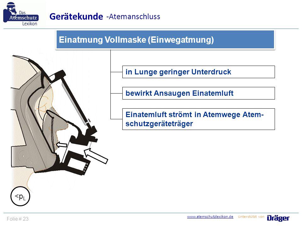 Gerätekunde -Atemanschluss Einatmung Vollmaske (Einwegatmung)