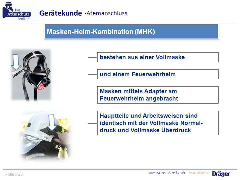 Gerätekunde -Atemanschluss Masken-Helm-Kombination (MHK)