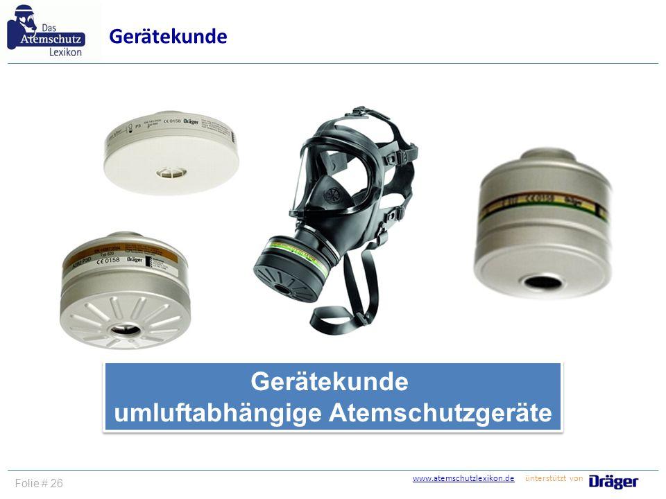 umluftabhängige Atemschutzgeräte