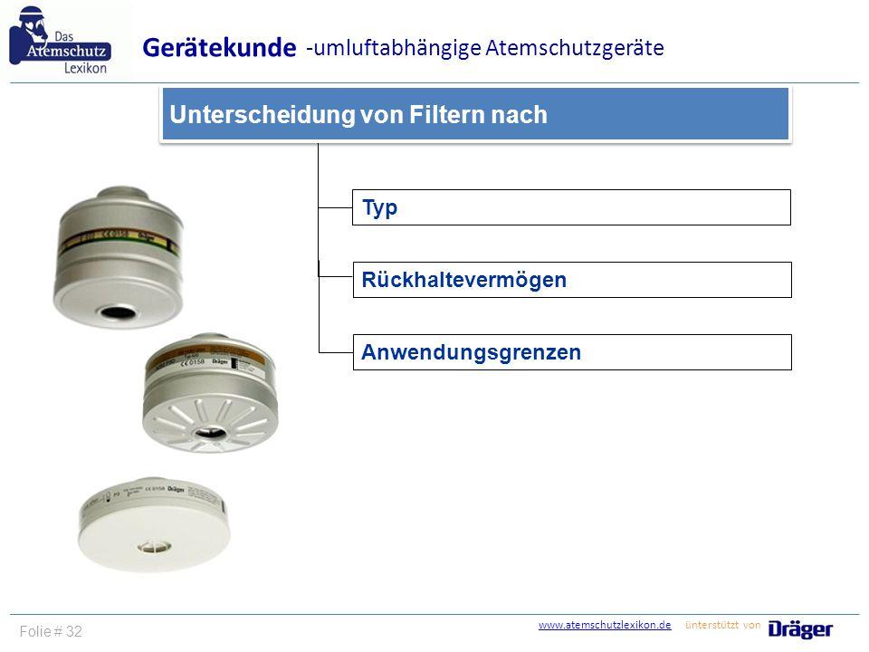 Gerätekunde -umluftabhängige Atemschutzgeräte