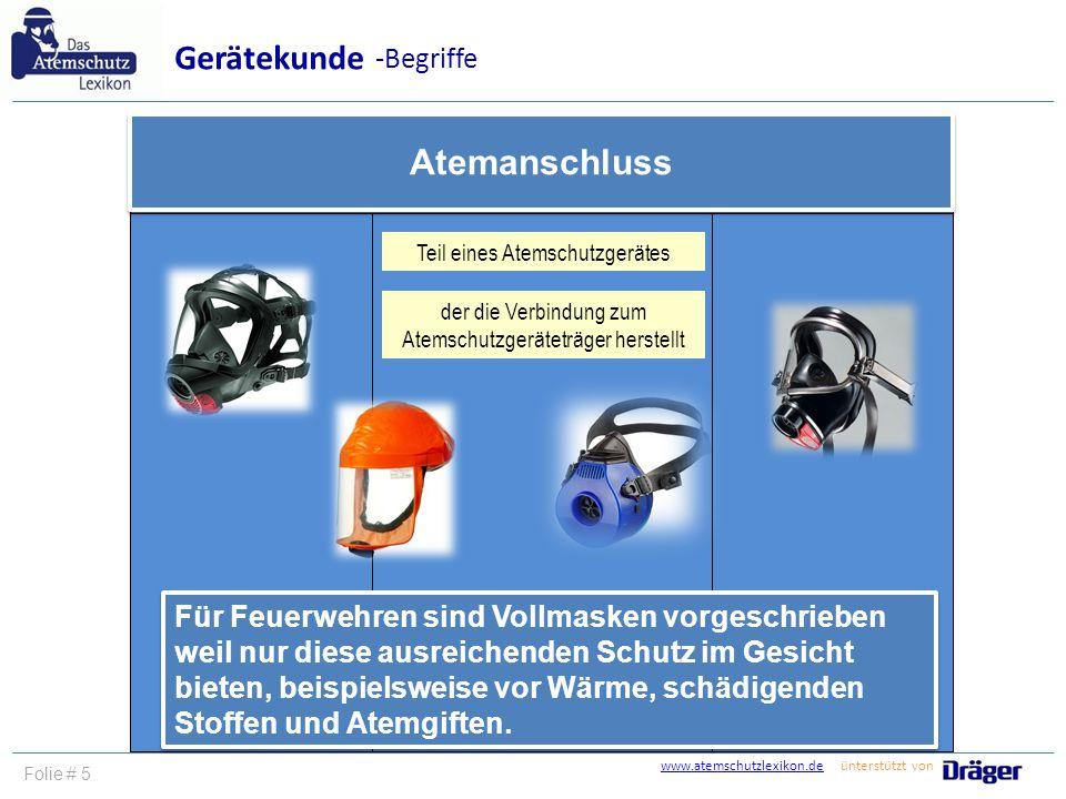 Gerätekunde Atemanschluss -Begriffe