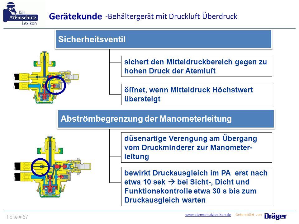 Gerätekunde -Behältergerät mit Druckluft Überdruck Sicherheitsventil