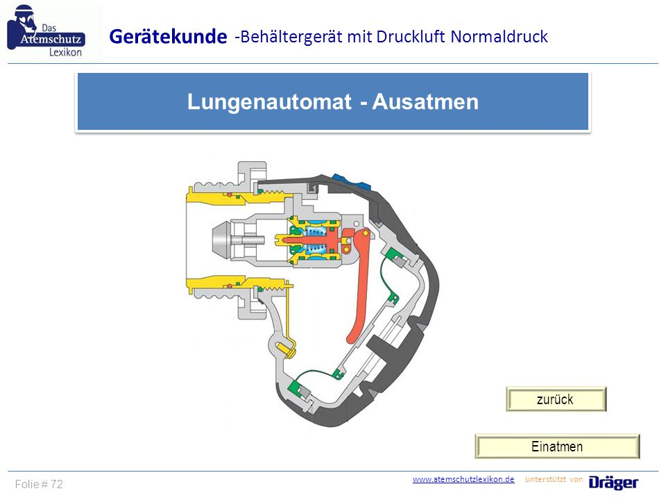 Lungenautomat - Ausatmen