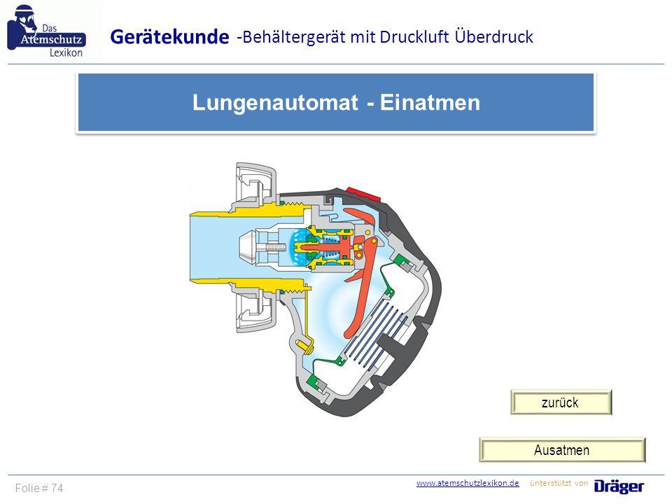 Lungenautomat - Einatmen