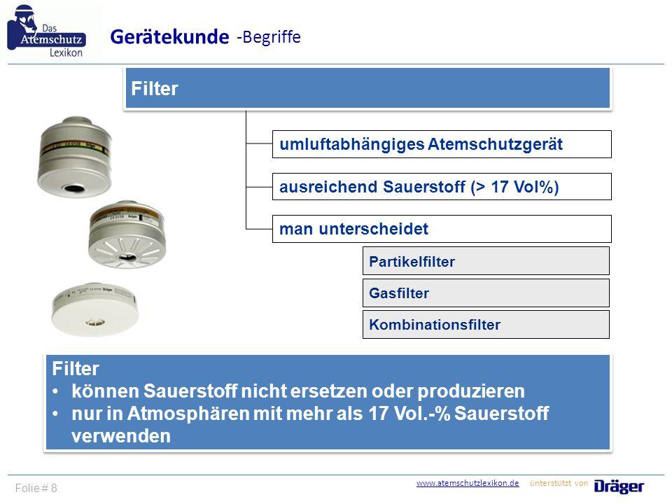 Gerätekunde -Begriffe Filter Filter