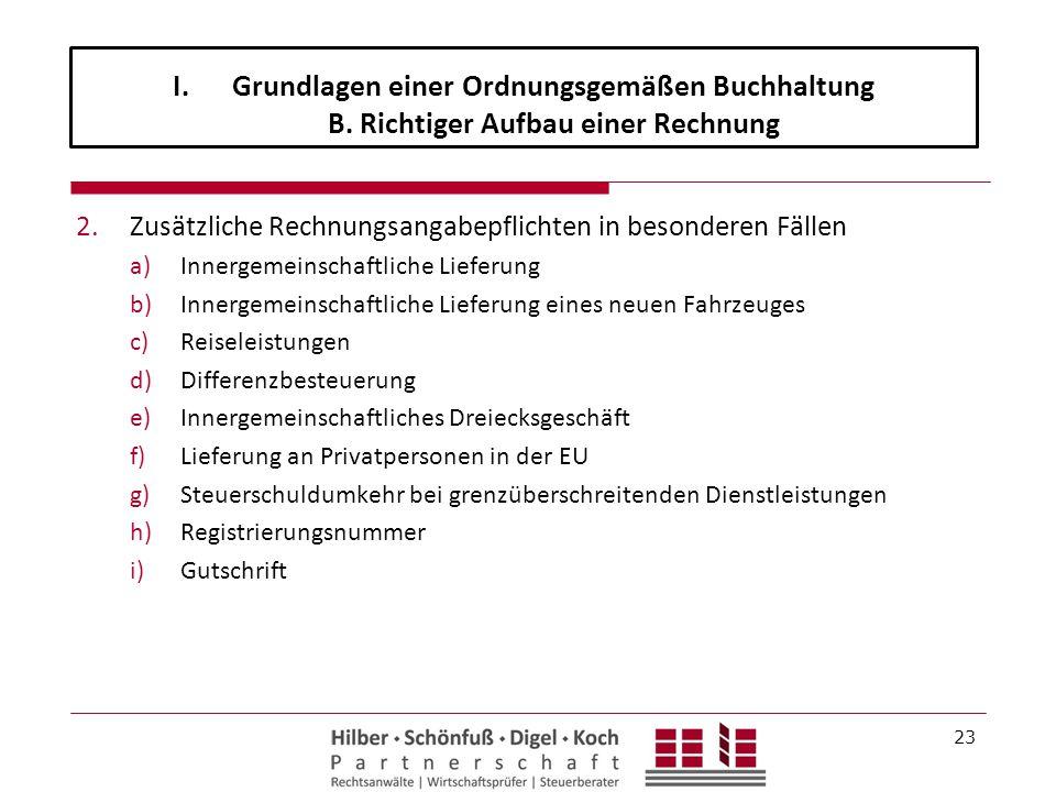 Grundlagen einer Ordnungsgemäßen Buchhaltung B