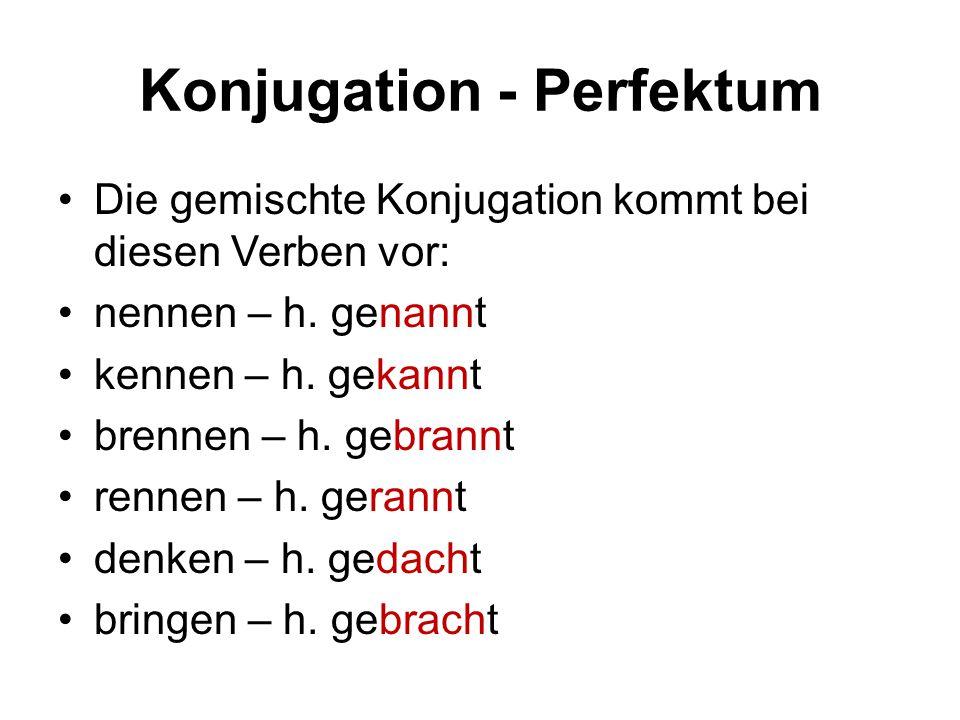Konjugation - Perfektum