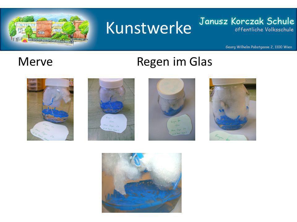 Kunstwerke Merve Regen im Glas