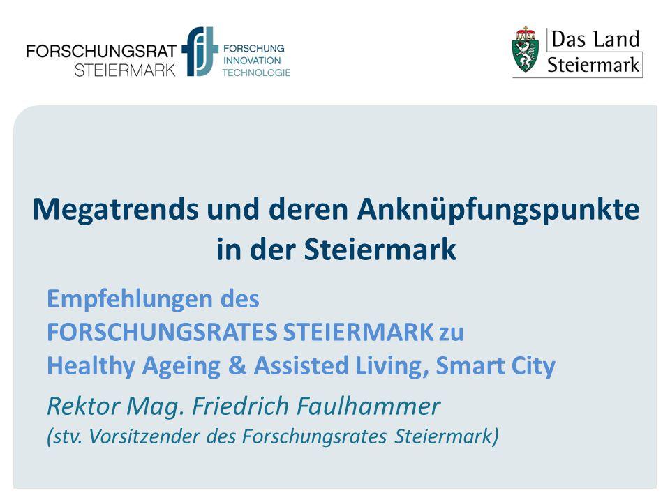 Megatrends und deren Anknüpfungspunkte in der Steiermark