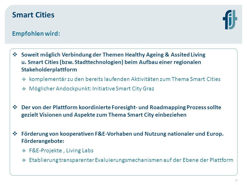 Smart Cities Empfohlen wird: