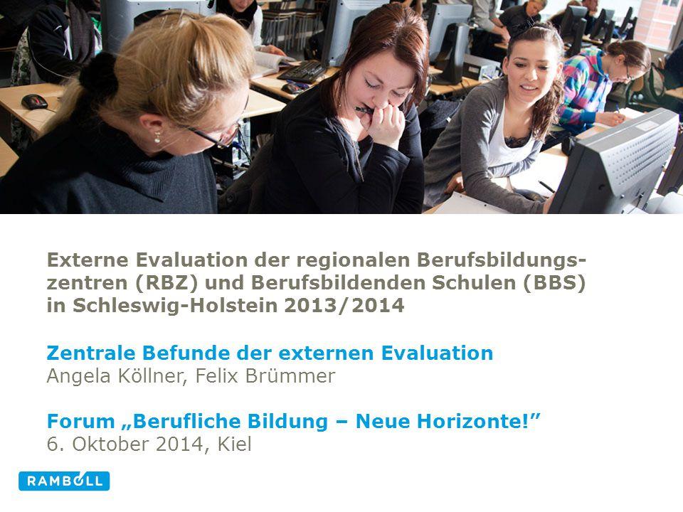 Zentrale Befunde der externen Evaluation Angela Köllner, Felix Brümmer