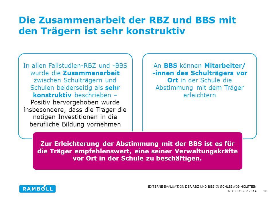 Die Zusammenarbeit der RBZ und BBS mit den Trägern ist sehr konstruktiv