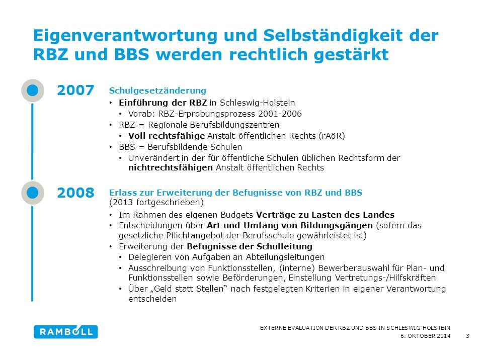 Eigenverantwortung und Selbständigkeit der RBZ und BBS werden rechtlich gestärkt