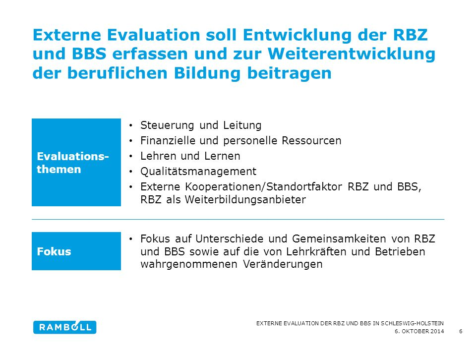 Externe Evaluation soll Entwicklung der RBZ und BBS erfassen und zur Weiterentwicklung der beruflichen Bildung beitragen