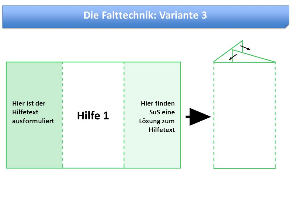 Die Falttechnik: Variante 3
