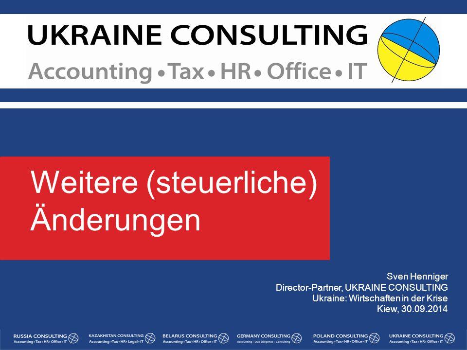 Weitere (steuerliche) Änderungen