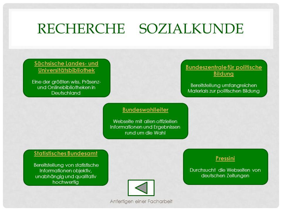 Recherche Sozialkunde