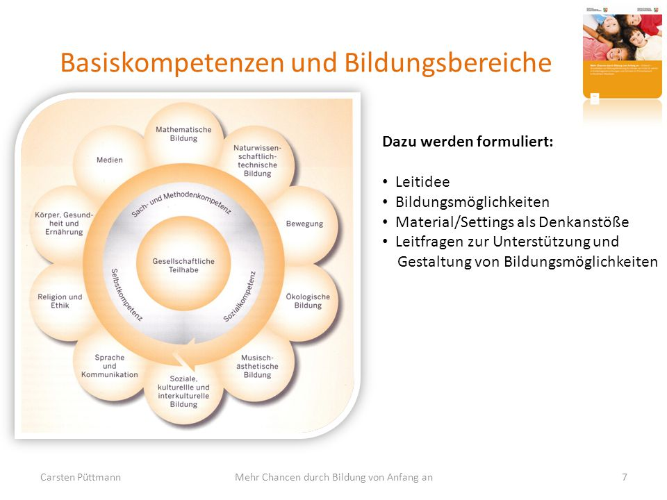 Basiskompetenzen und Bildungsbereiche
