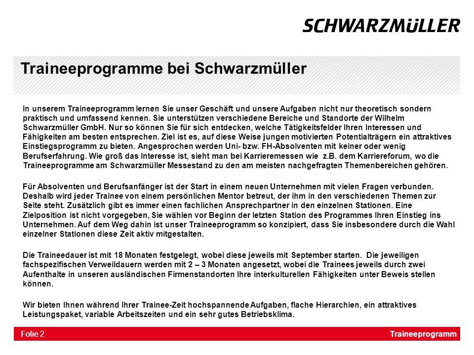 Traineeprogramme bei Schwarzmüller