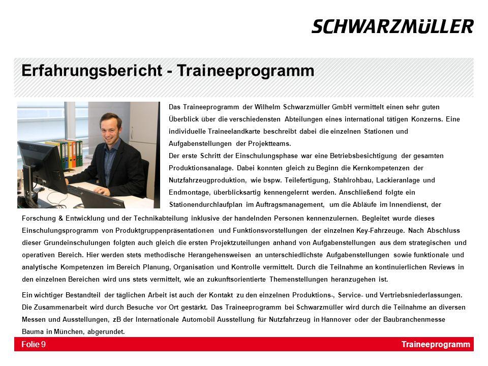 Erfahrungsbericht - Traineeprogramm